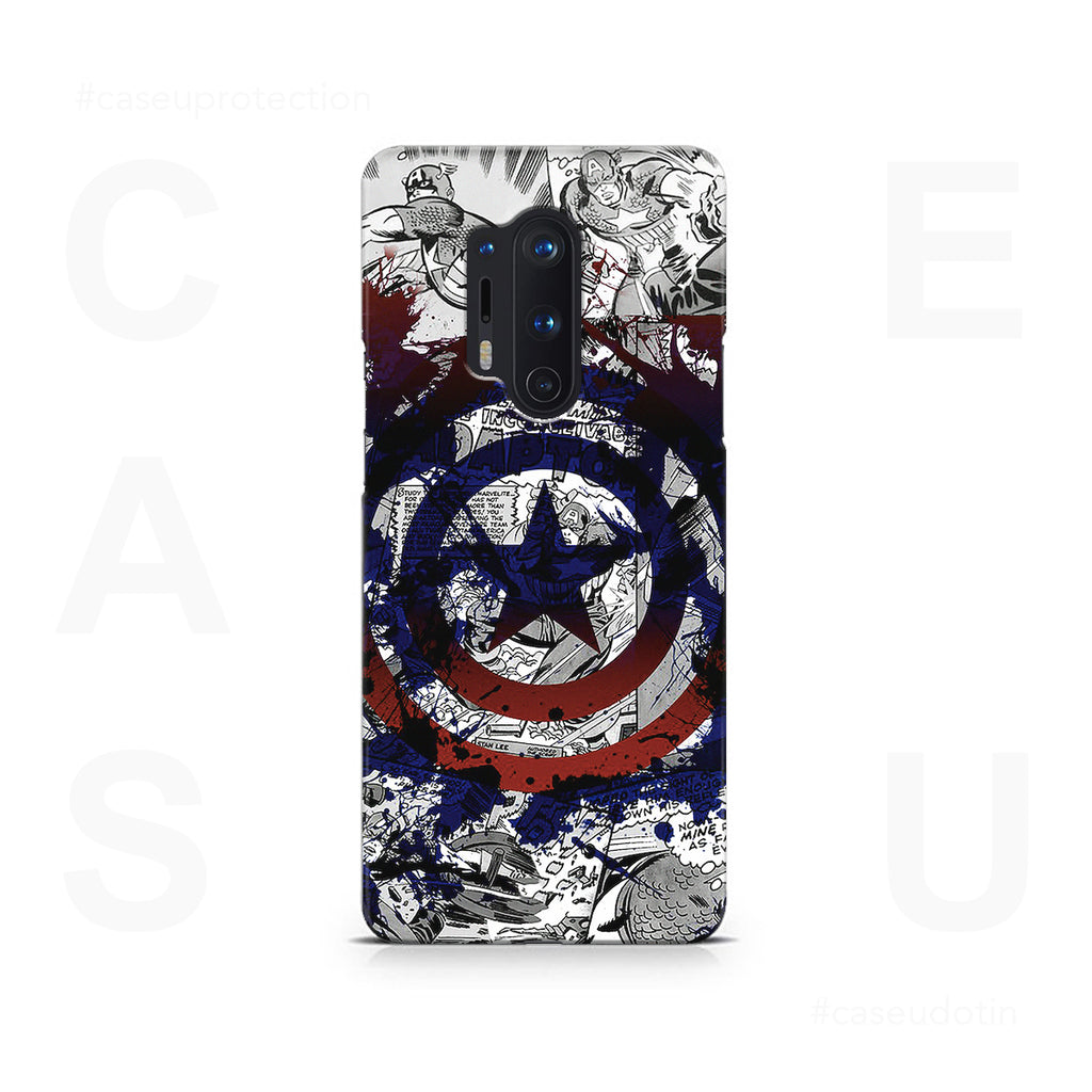 Captain America Splash Out Shield Case Cover - OnePlus 8 Pro