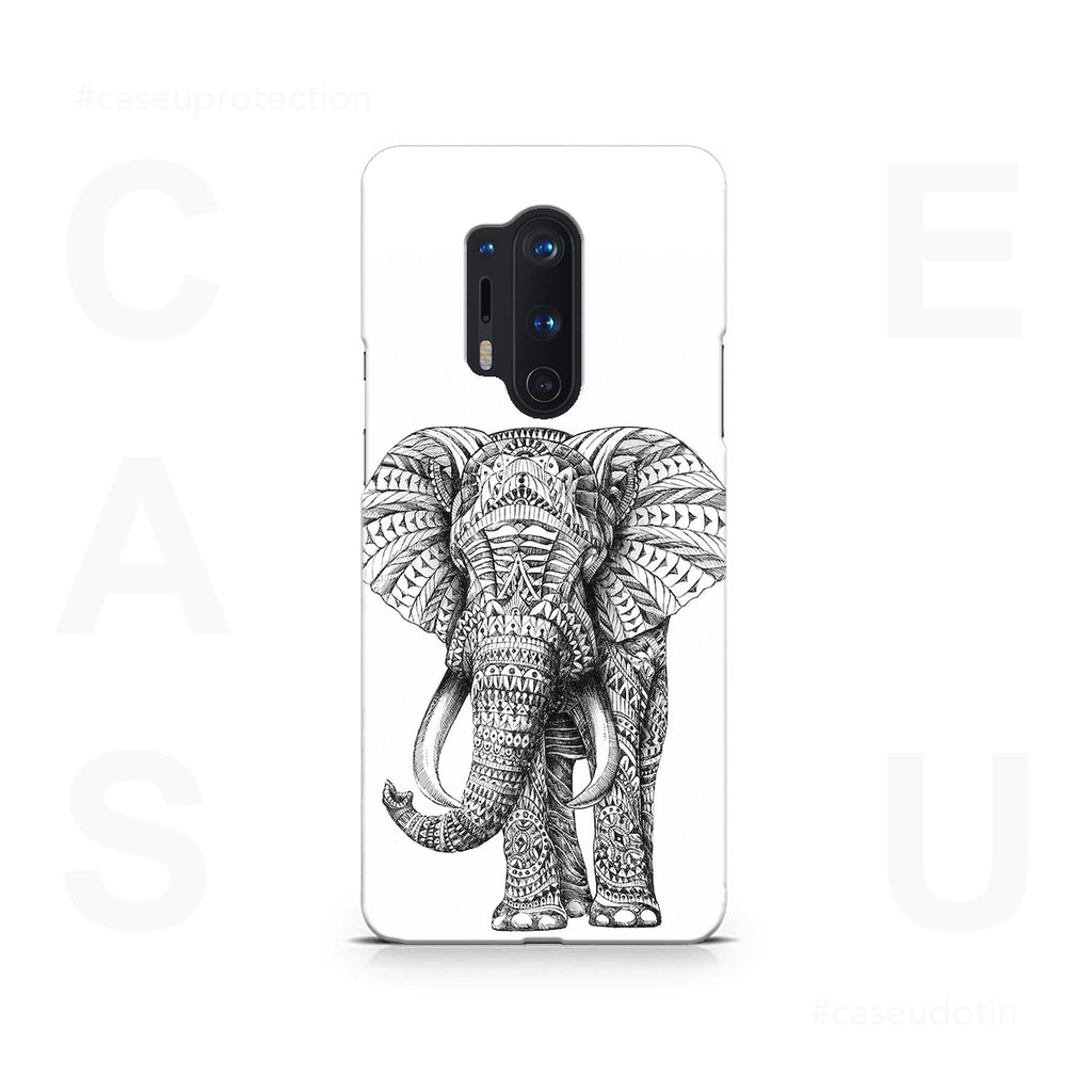 Ornate Elephant Case Cover - OnePlus 8 Pro