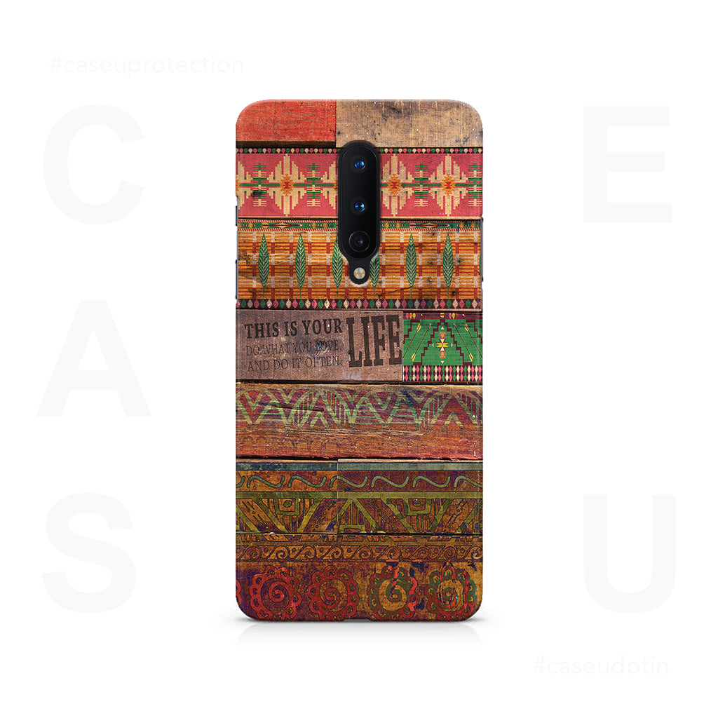 Wooden Art Case Cover - OnePlus 8
