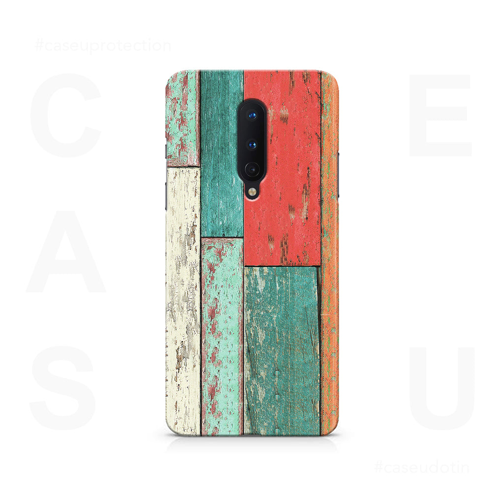 Vertical Wood Panels Multicolored Case Cover - OnePlus 8