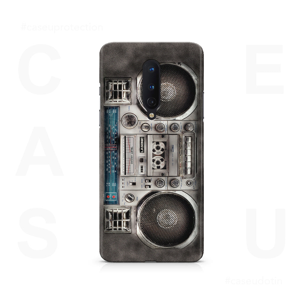 Vintage Rugged BoomBox Case Cover - OnePlus 8
