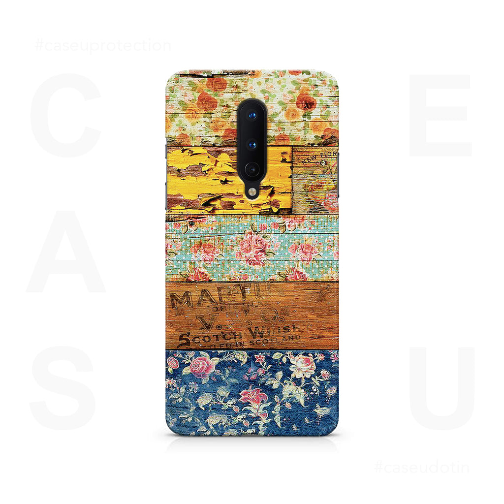 Wooden Worn Patterned Case Cover - OnePlus 8
