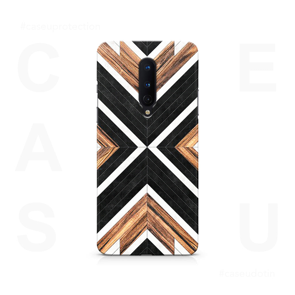 Geometric Wood Art Case Cover - OnePlus 8