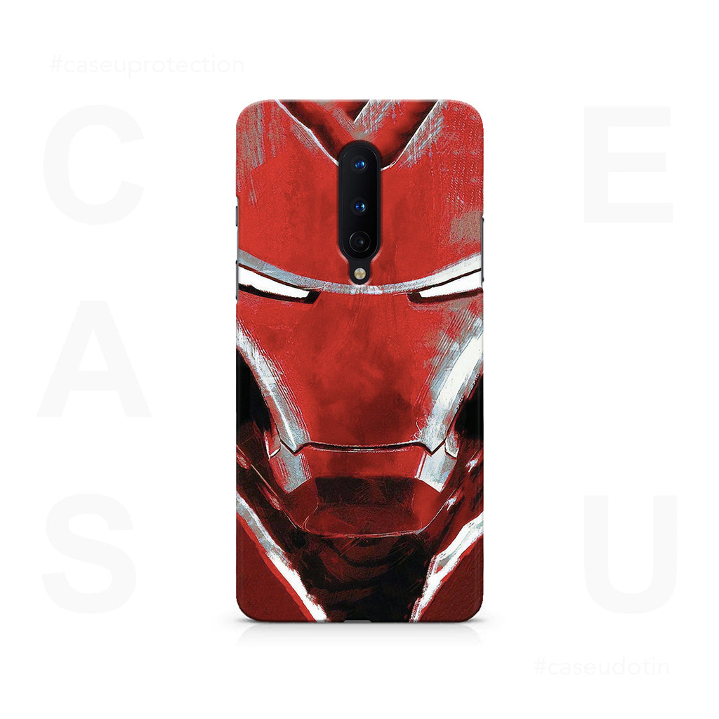 Charcoal Art Iron Man Case Cover - OnePlus 8