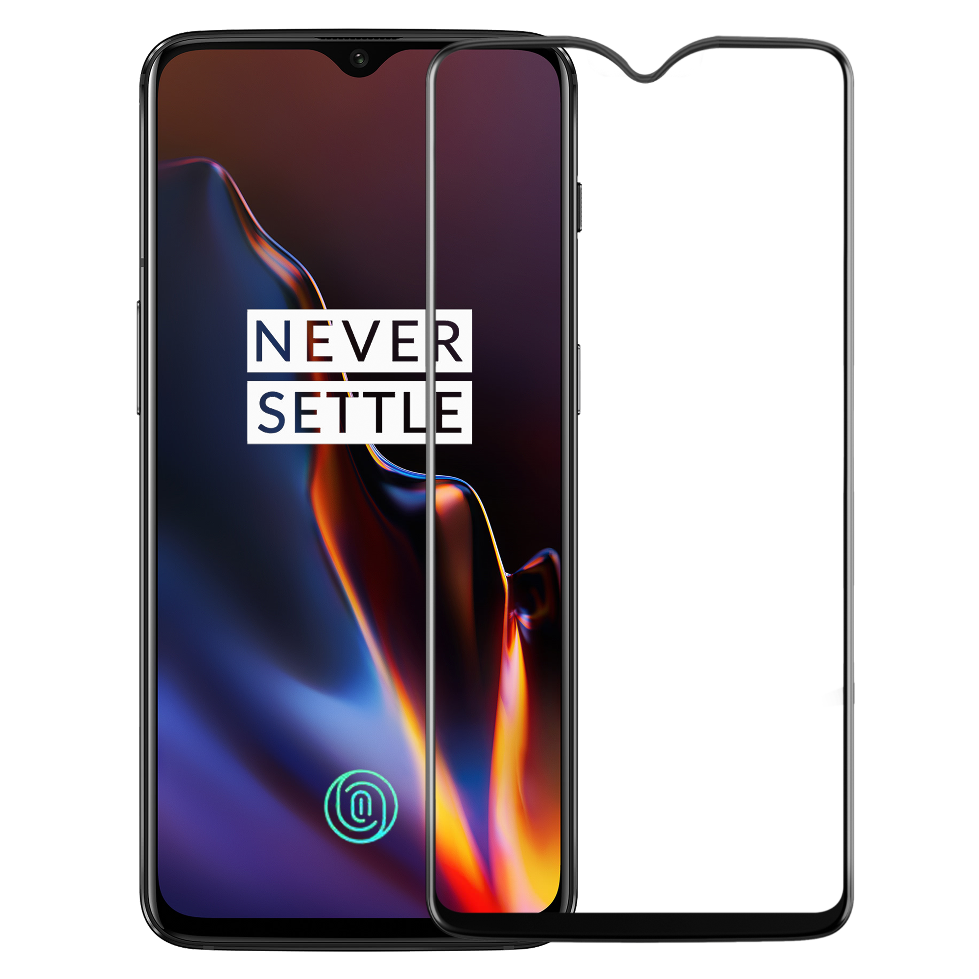 Edge to Edge Full Screen Coverage Screen-Protector with easy installation kit (OnePlus 6T)