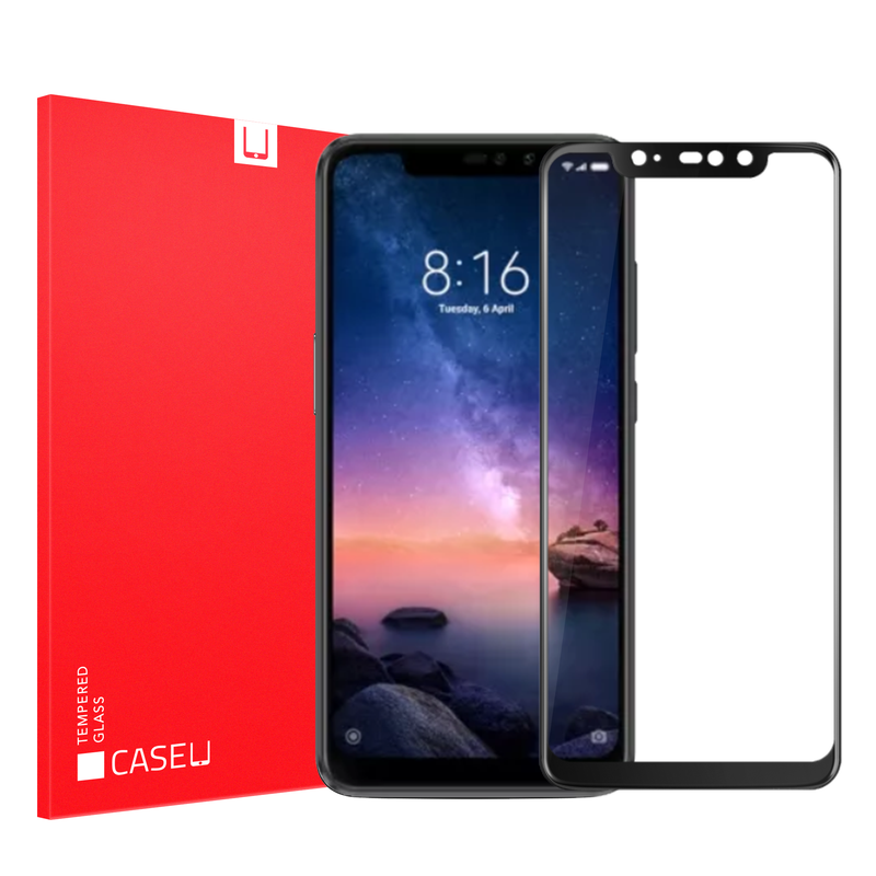 Edge to Edge Full Screen Coverage Screen-Protector with easy installation kit (Redmi Note 6 Pro)