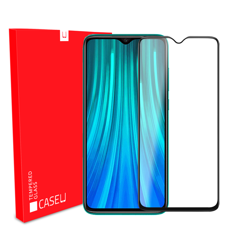 Edge to Edge Full Screen Coverage Screen-Protector with easy installation kit (Redmi Note 8 Pro)