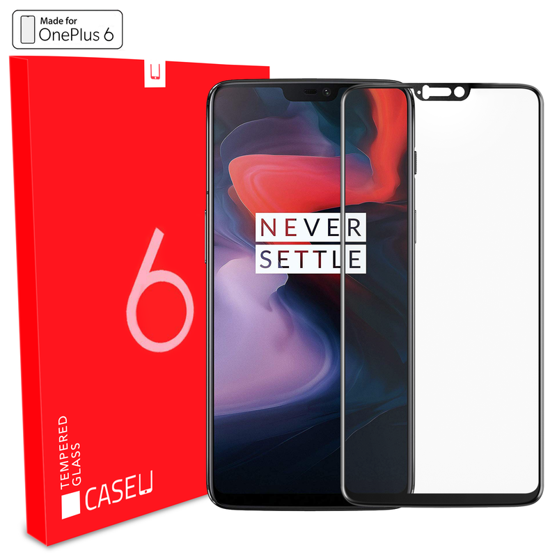 Edge to Edge Full Screen Coverage Screen-Protector with easy installation kit (OnePlus 6)