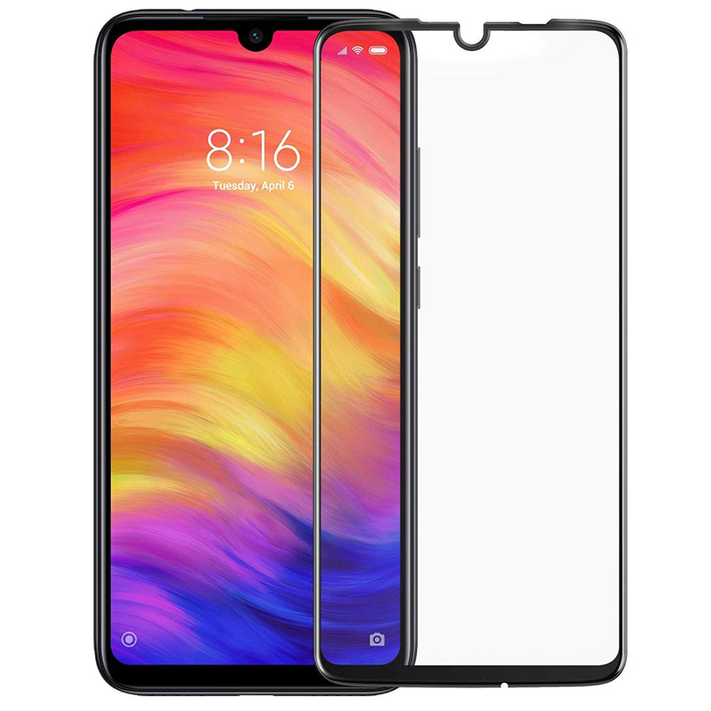 Black Shield Premium Tempered Glass - Redmi Note 7 Pro - CASE U