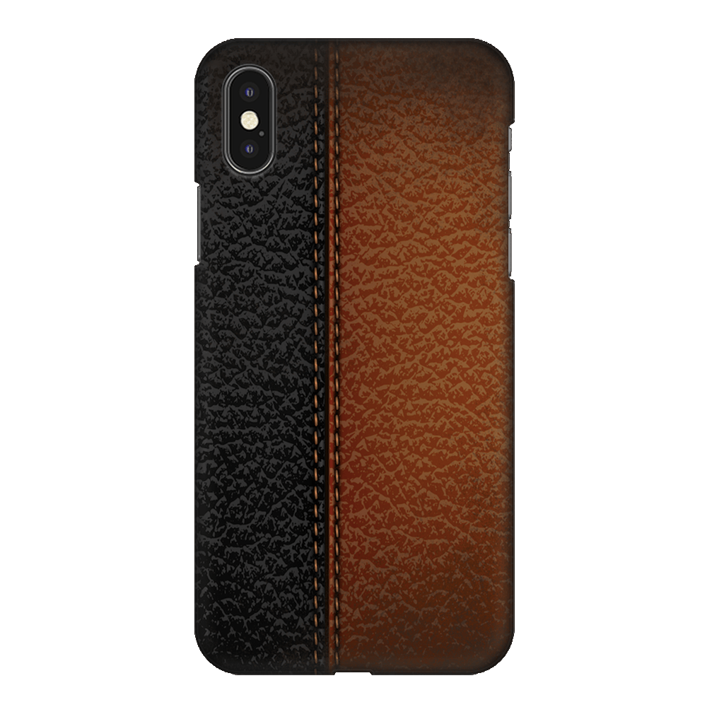 B&B Leather Stitched Case Cover - iPhone XS Max