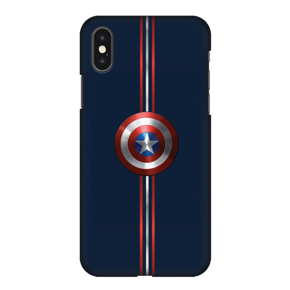 Captain America Shield Case Cover - iPhone XS
