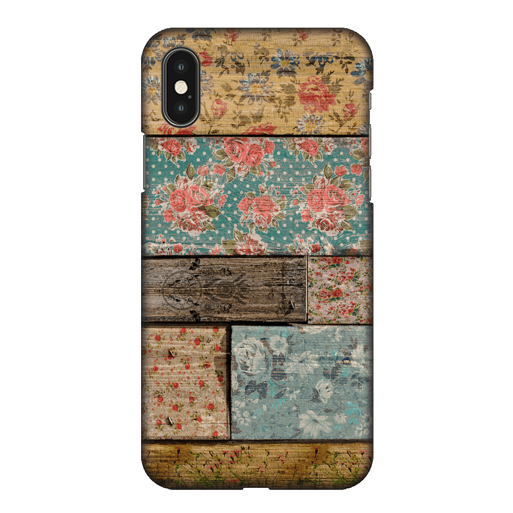 Floral Design Case Cover - iPhone XS Max