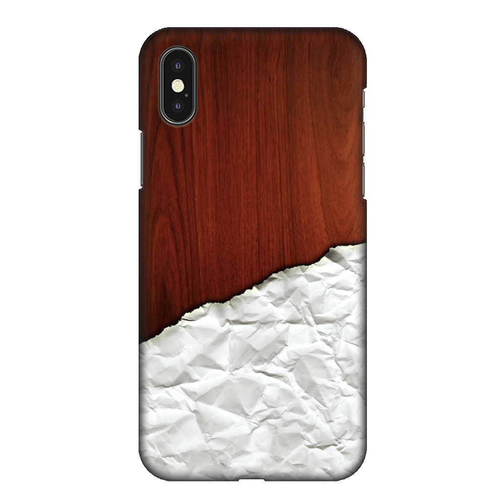 Crumbled Paper Artwork Case Cover - iPhone XS