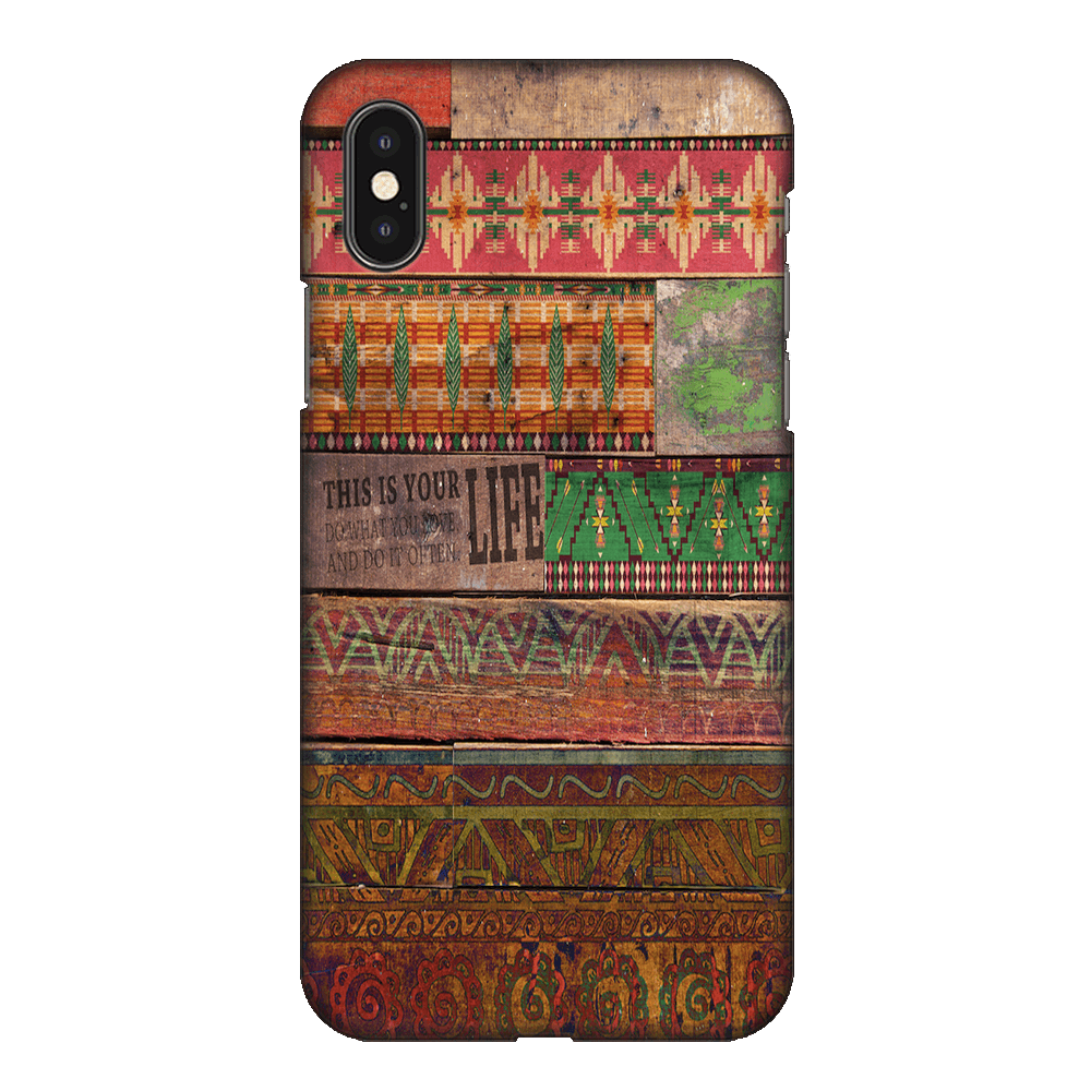 Wooden Art Case Cover - iPhone XS