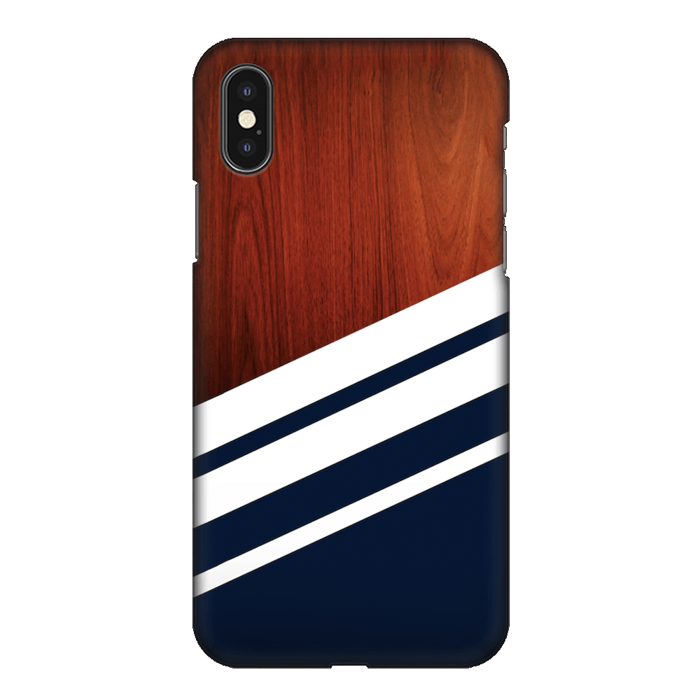 Navy Blue Madera Case Cover - iPhone XS Max