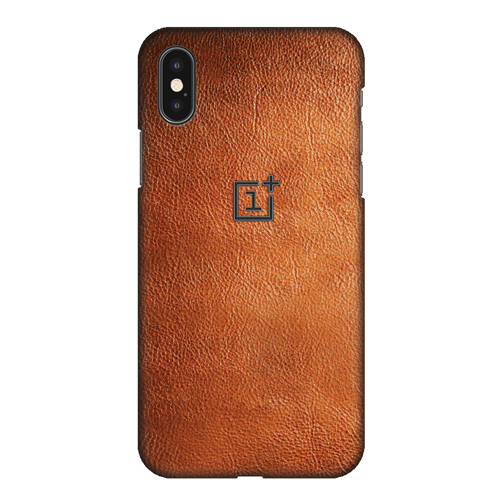 Brown Leather Case Cover - iPhone XS
