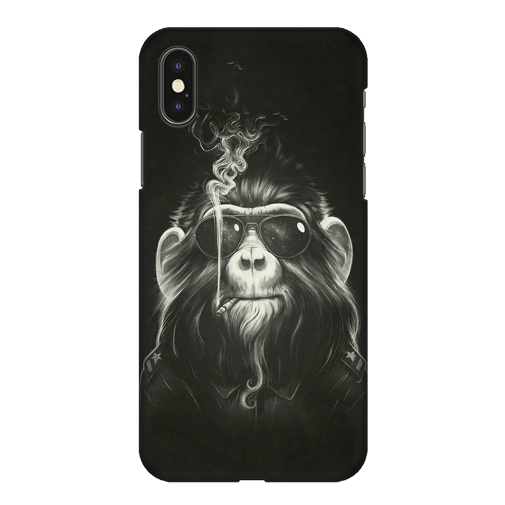 Gangster Smoker Ape Case Cover - iPhone XS