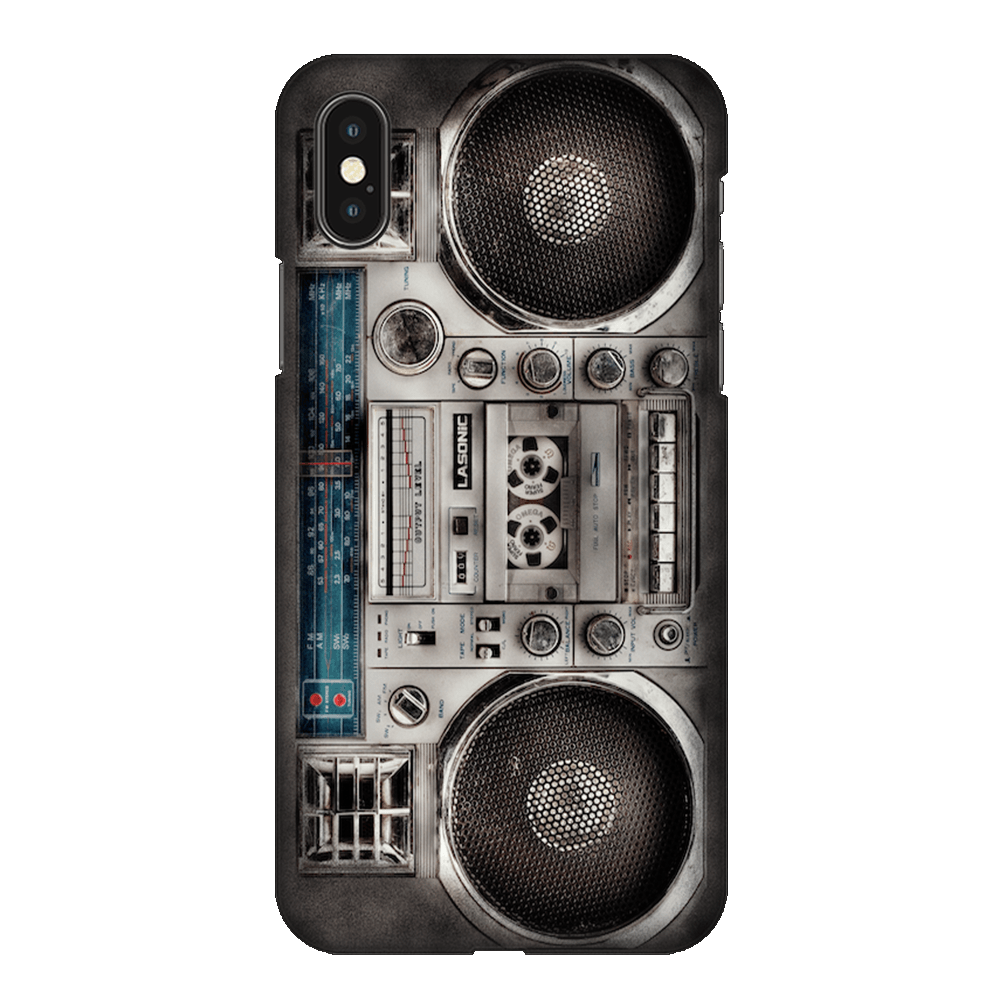 Retro 80s Boombox White Case Cover - iPhone XS Max