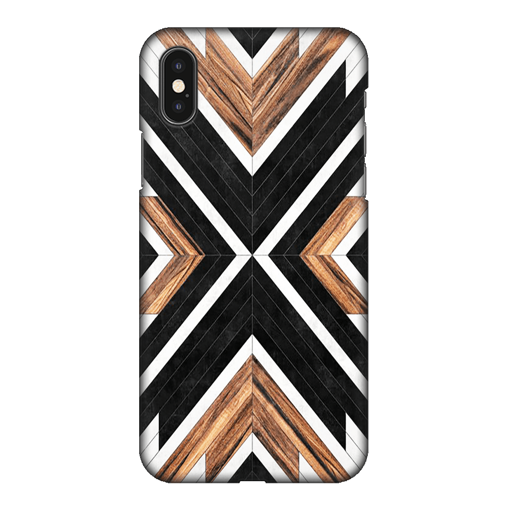 Geometric Wood Art Case Cover - iPhone XS