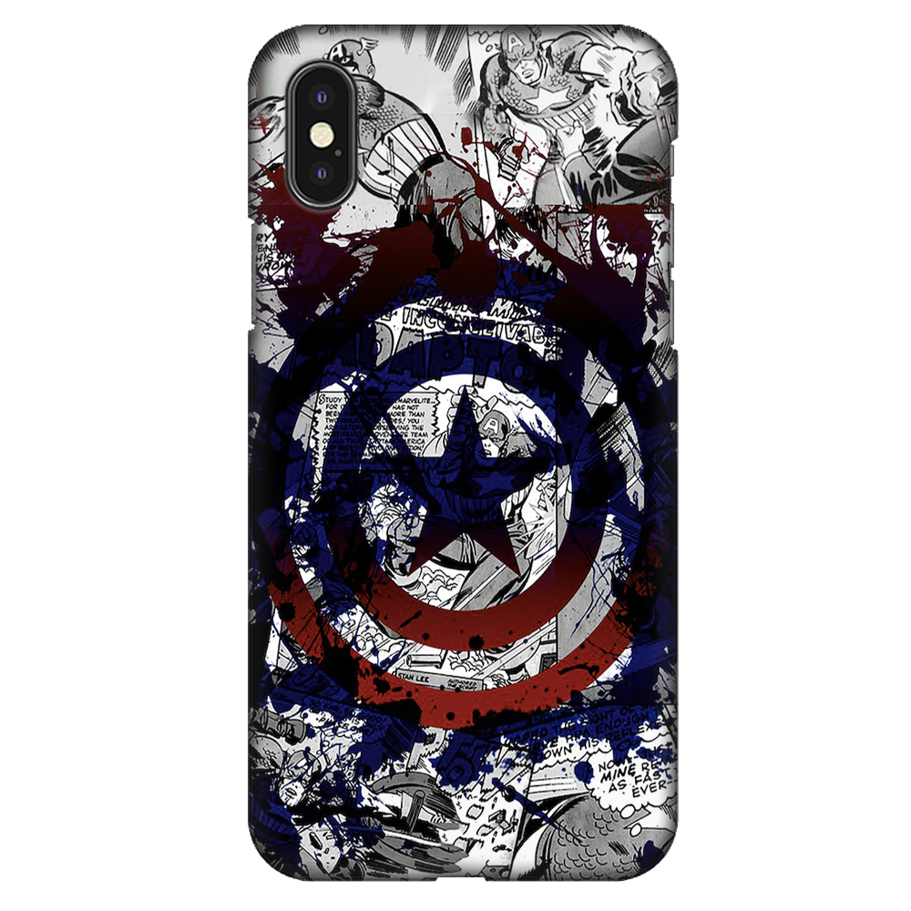 Captain America Splash Out Shield Case Cover - iPhone XS Max