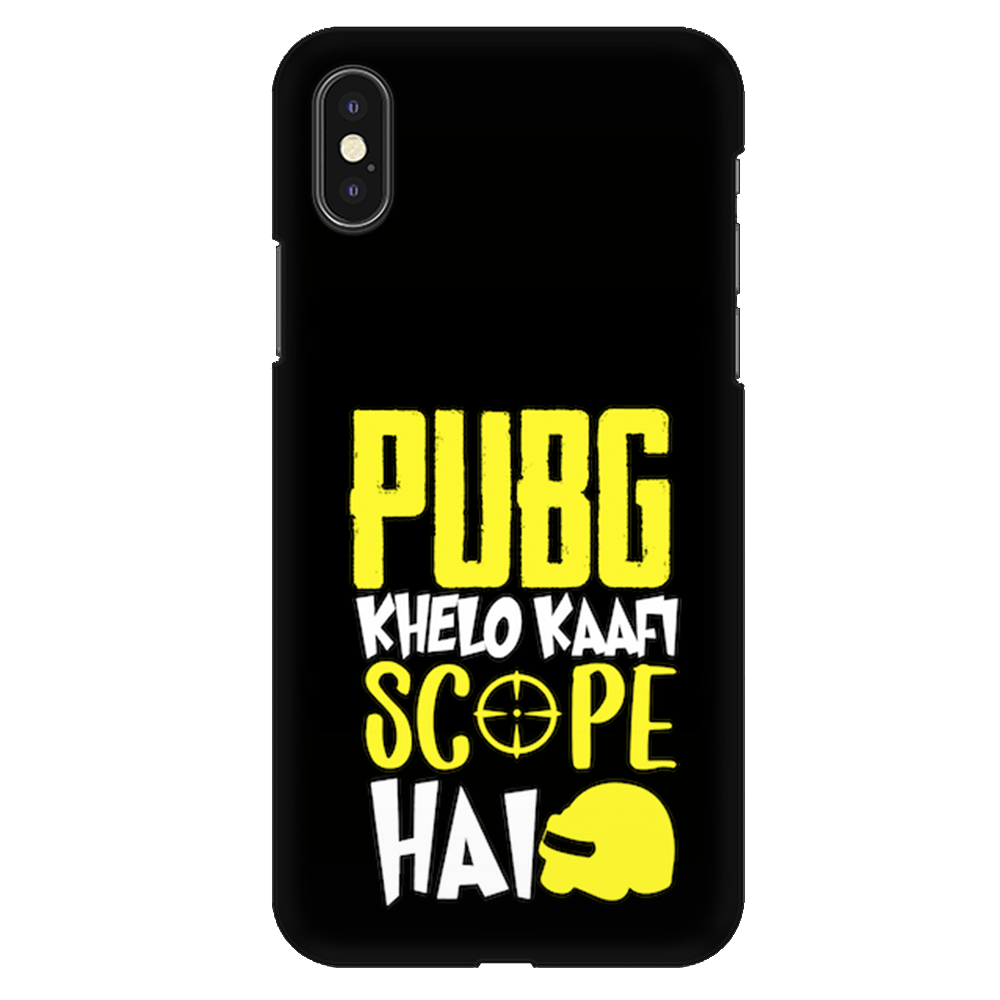 PUBG Khelo Kaafi Scope Hai Case Cover - iPhone XS