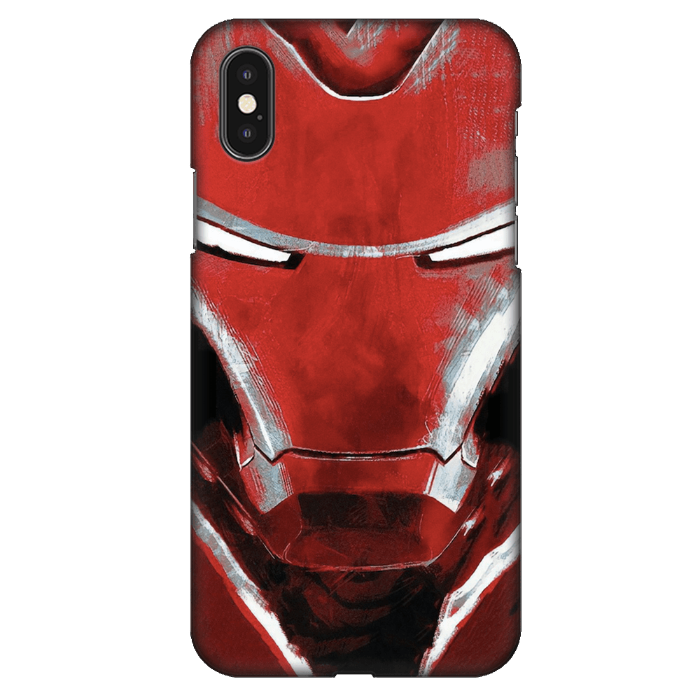 Charcoal Art Iron Man Case Cover - iPhone XS