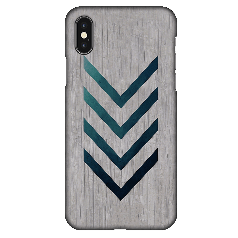 Blue Striped Arrow Case Cover - iPhone XS