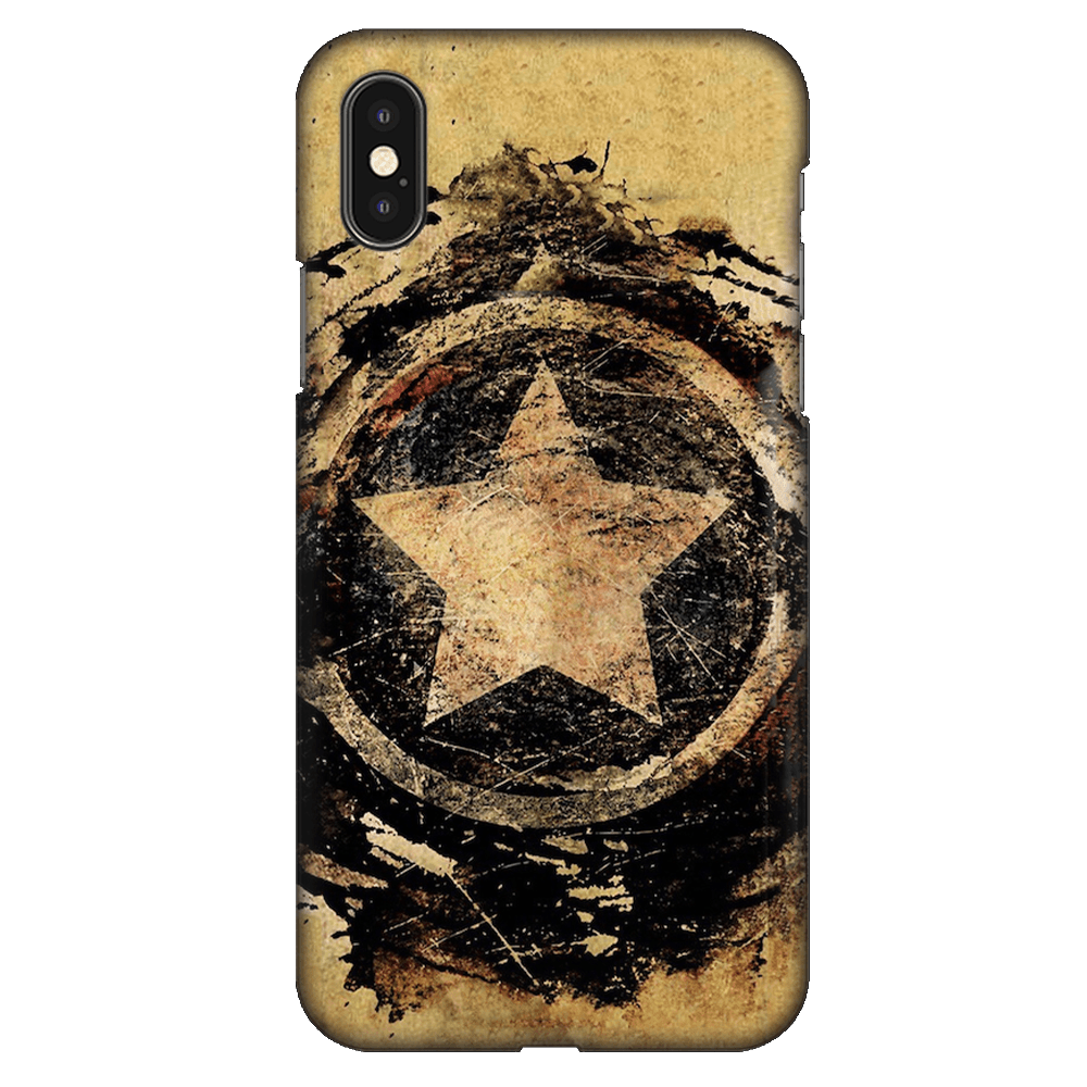 Symbolic Captain America Shield Case Cover - iPhone XS Max