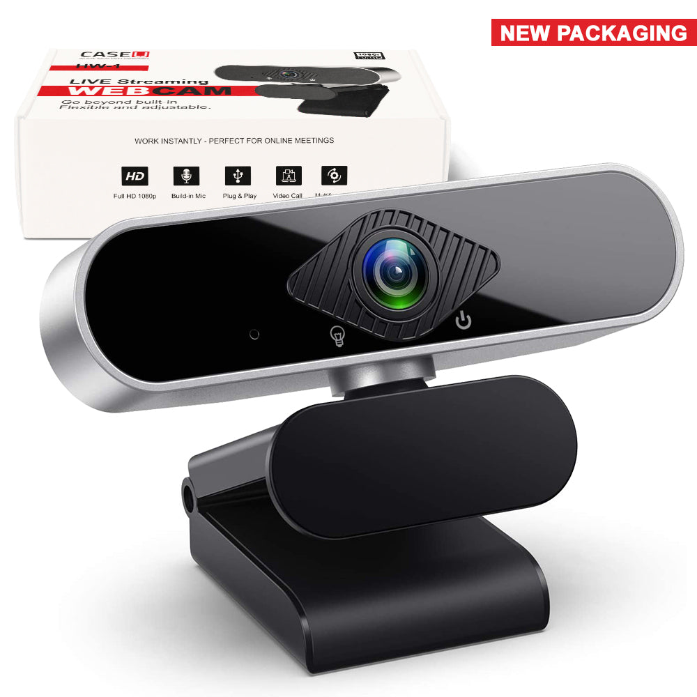 360° Rotation Web Camera Webcam with Built-in Mic - CASE U