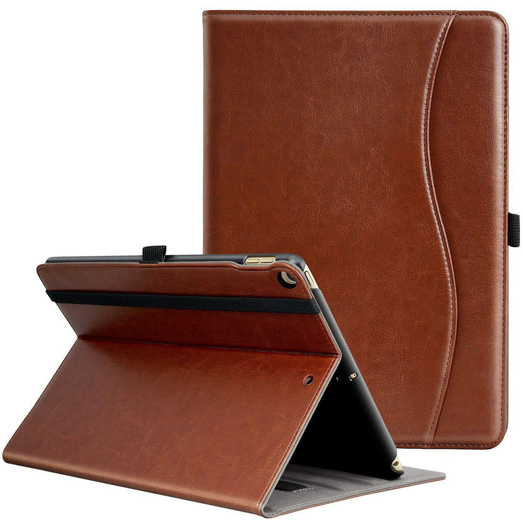 Brown Leather Case (2017/2018) - iPad 9.7 - CASE U