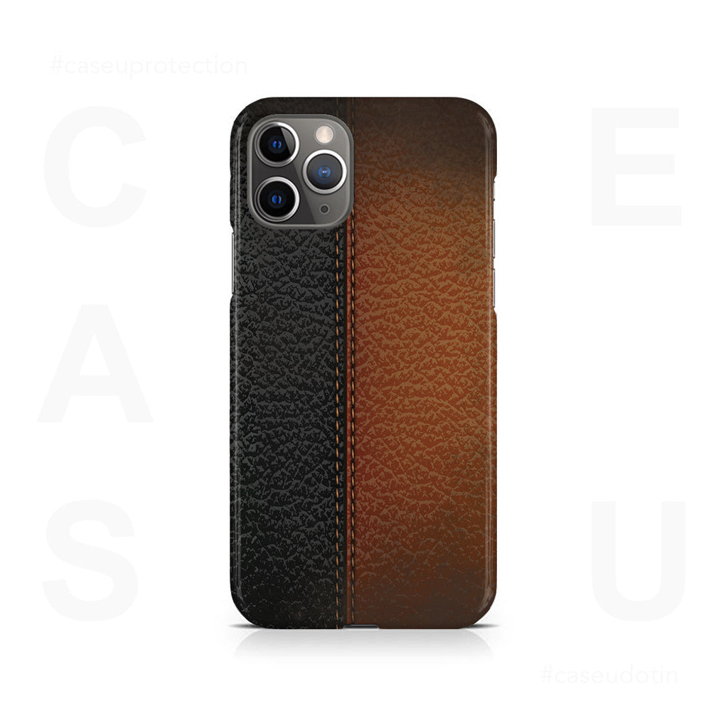 B&B Leather Stitched Case Cover - iPhone 11 Pro