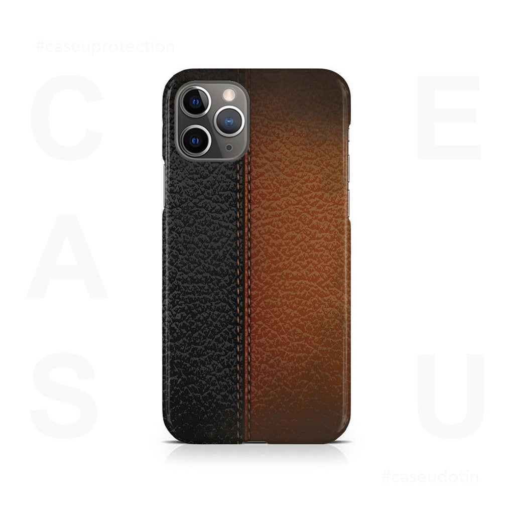 B&B Leather Stitched Case Cover - iPhone 11 Pro Max
