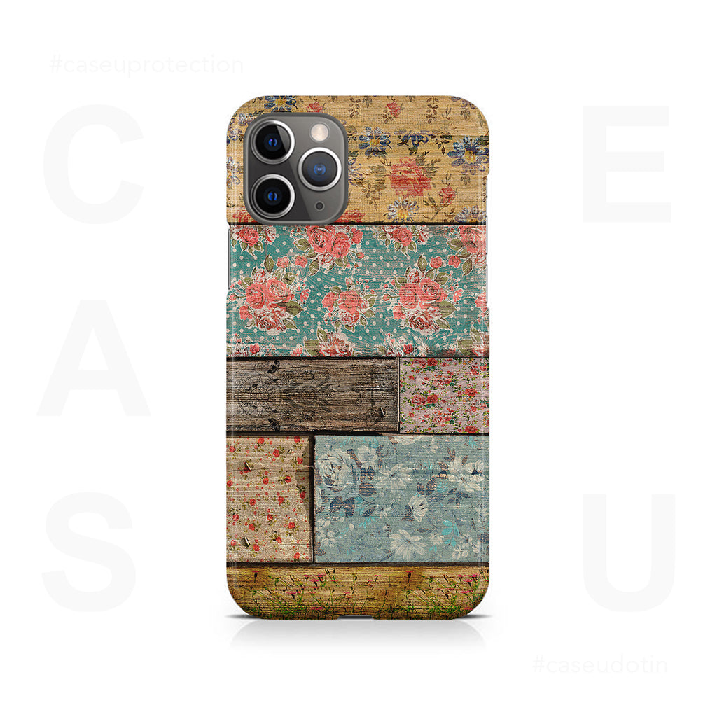 Floral Design Case Cover - iPhone 11 Pro