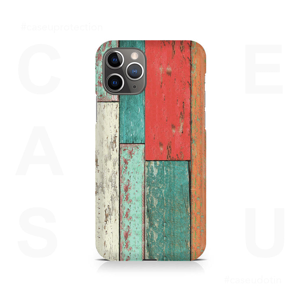 Vertical Wood Panels Multicolored Case Cover - iPhone 11 Pro