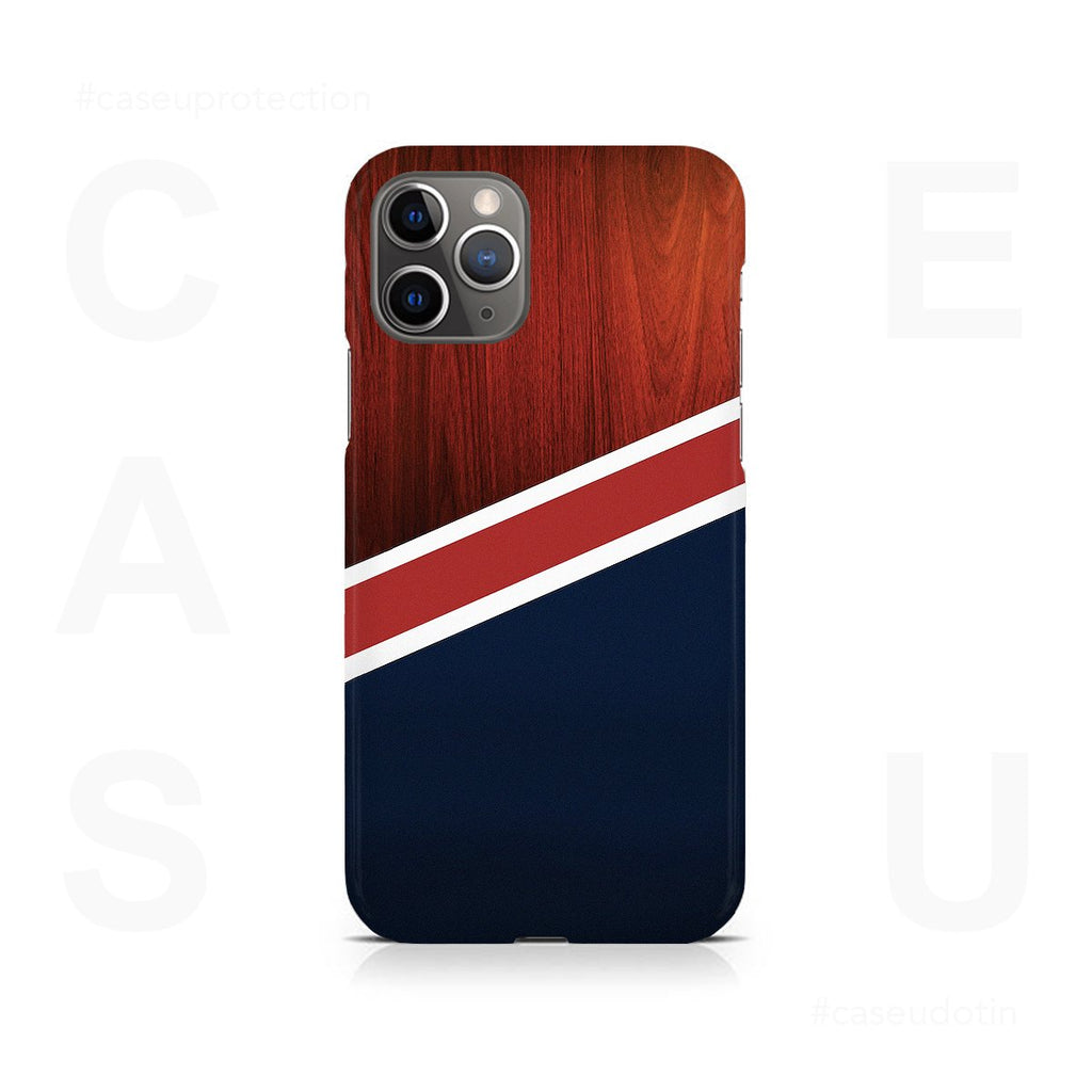 Navy Wood Case Cover - iPhone 11 Pro Max