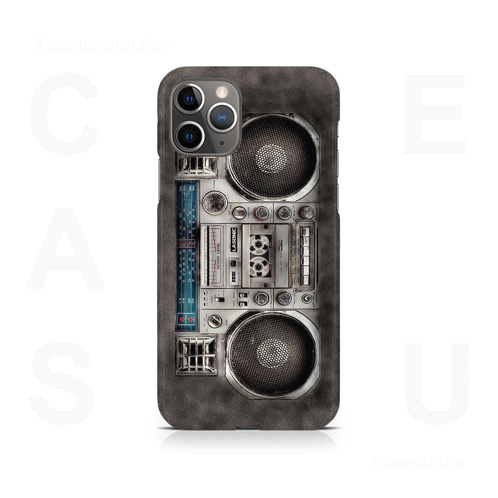Retro 80s Boombox White Case Cover - iPhone 11 Pro
