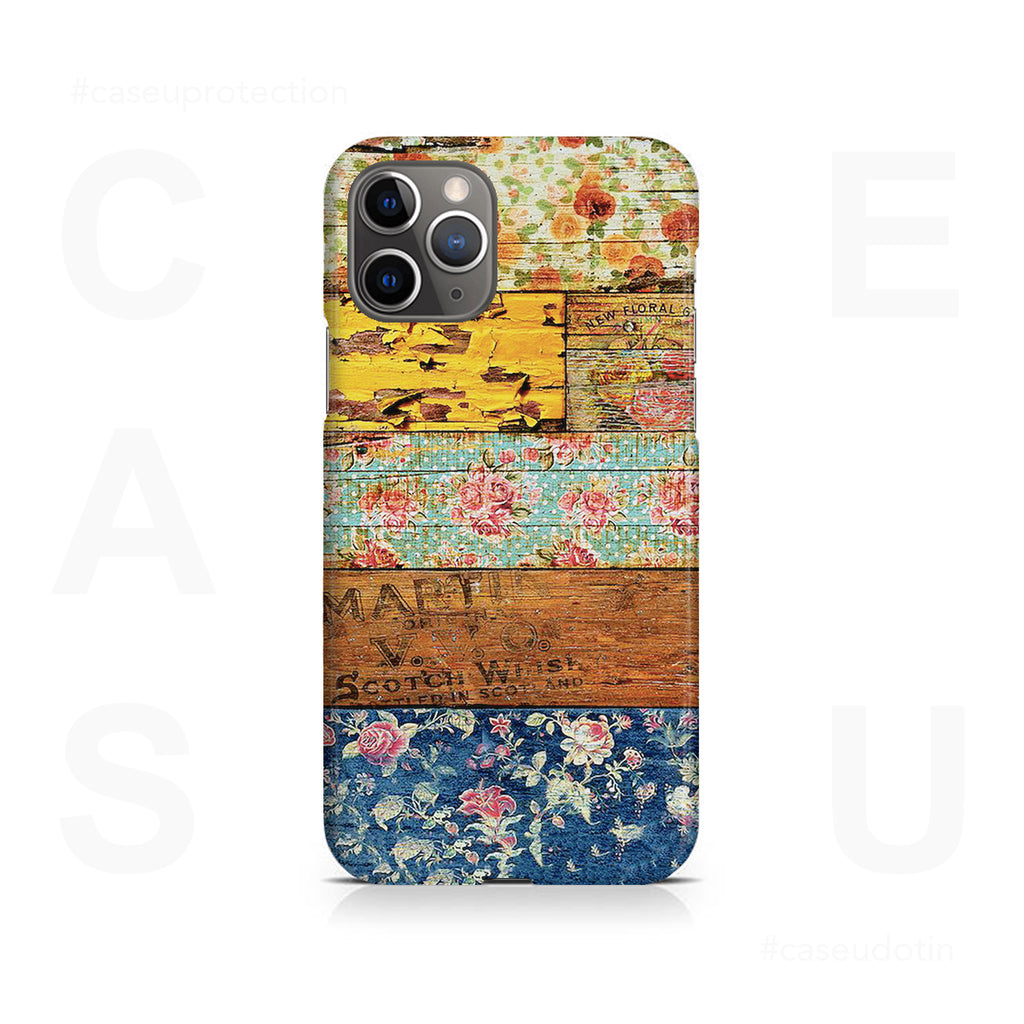 Wooden Worn Patterned Case Cover - iPhone 11 Pro