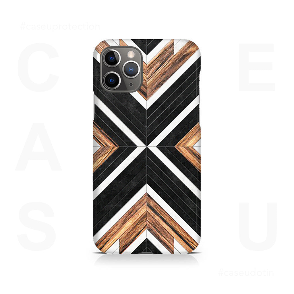 Geometric Wood Art Case Cover - iPhone 11 Pro