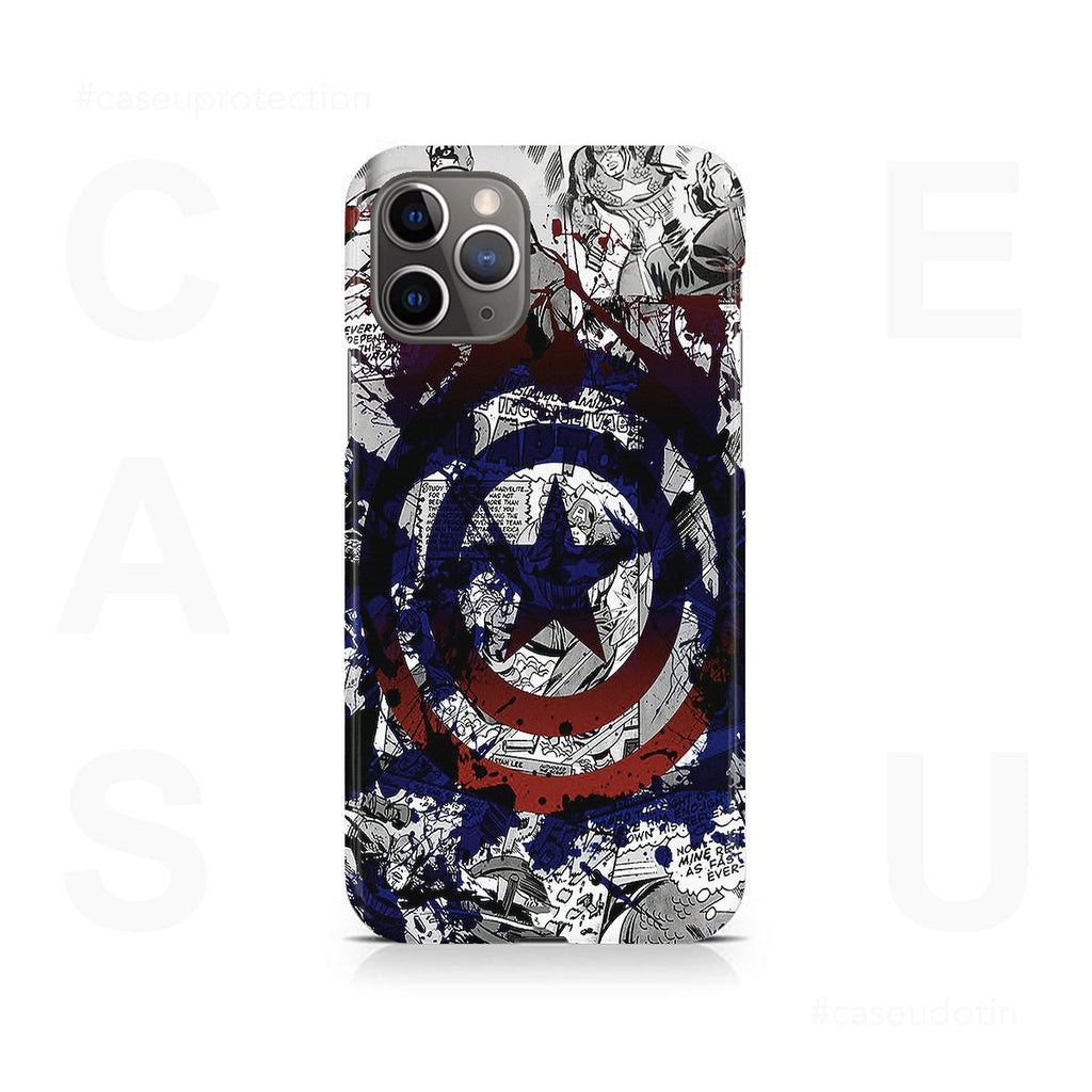 Captain America Splash Out Shield Case Cover - iPhone 11 Pro Max