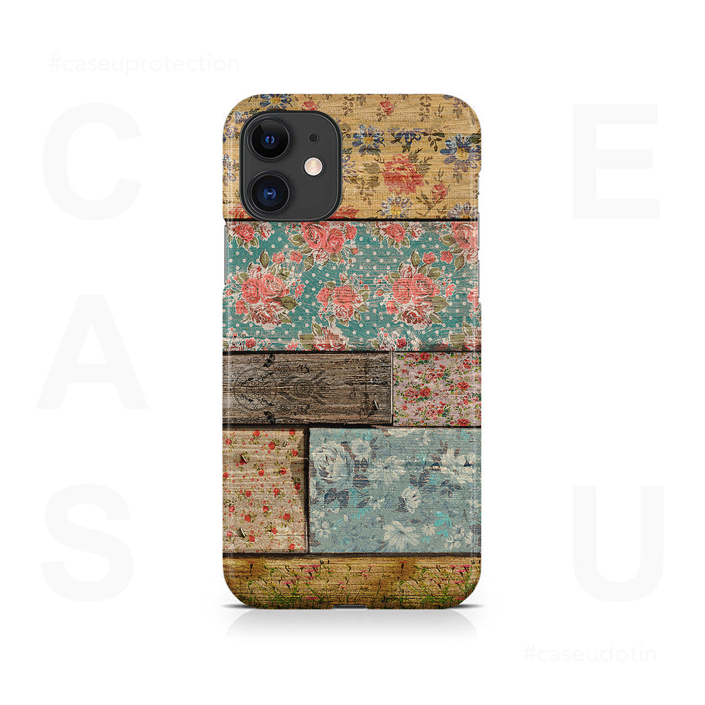 Floral Design Case Cover - iPhone 11