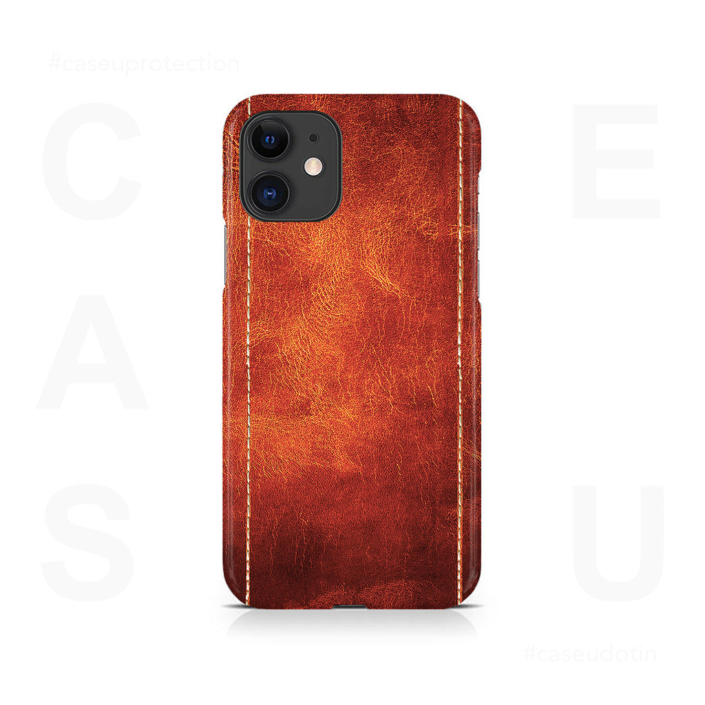 Dual Stitched Leather Case Cover - iPhone 11