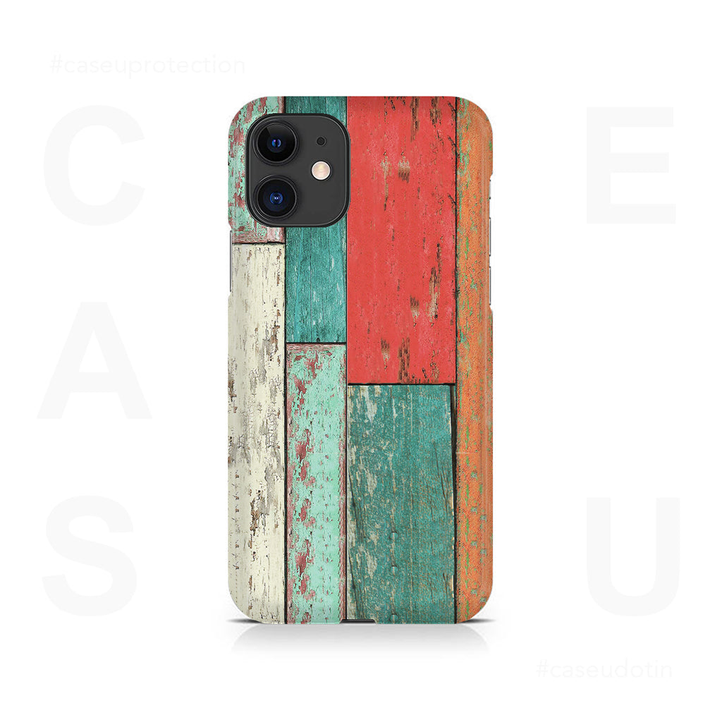 Vertical Wood Panels Multicolored Case Cover - iPhone 11