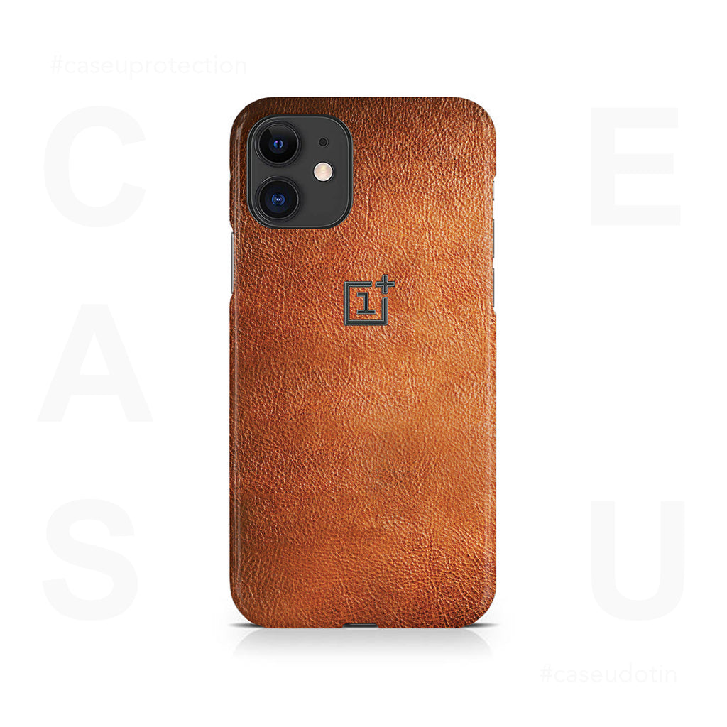 Brown Leather Case Cover - iPhone 11