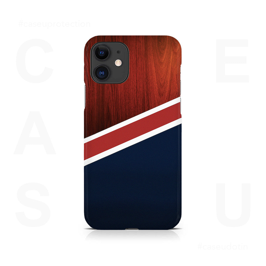 Navy Wood Case Cover - iPhone 11