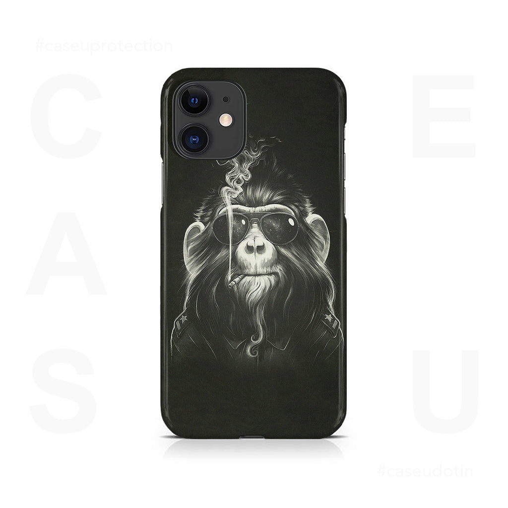 Gangster Smoker Ape Case Cover - iPhone 11