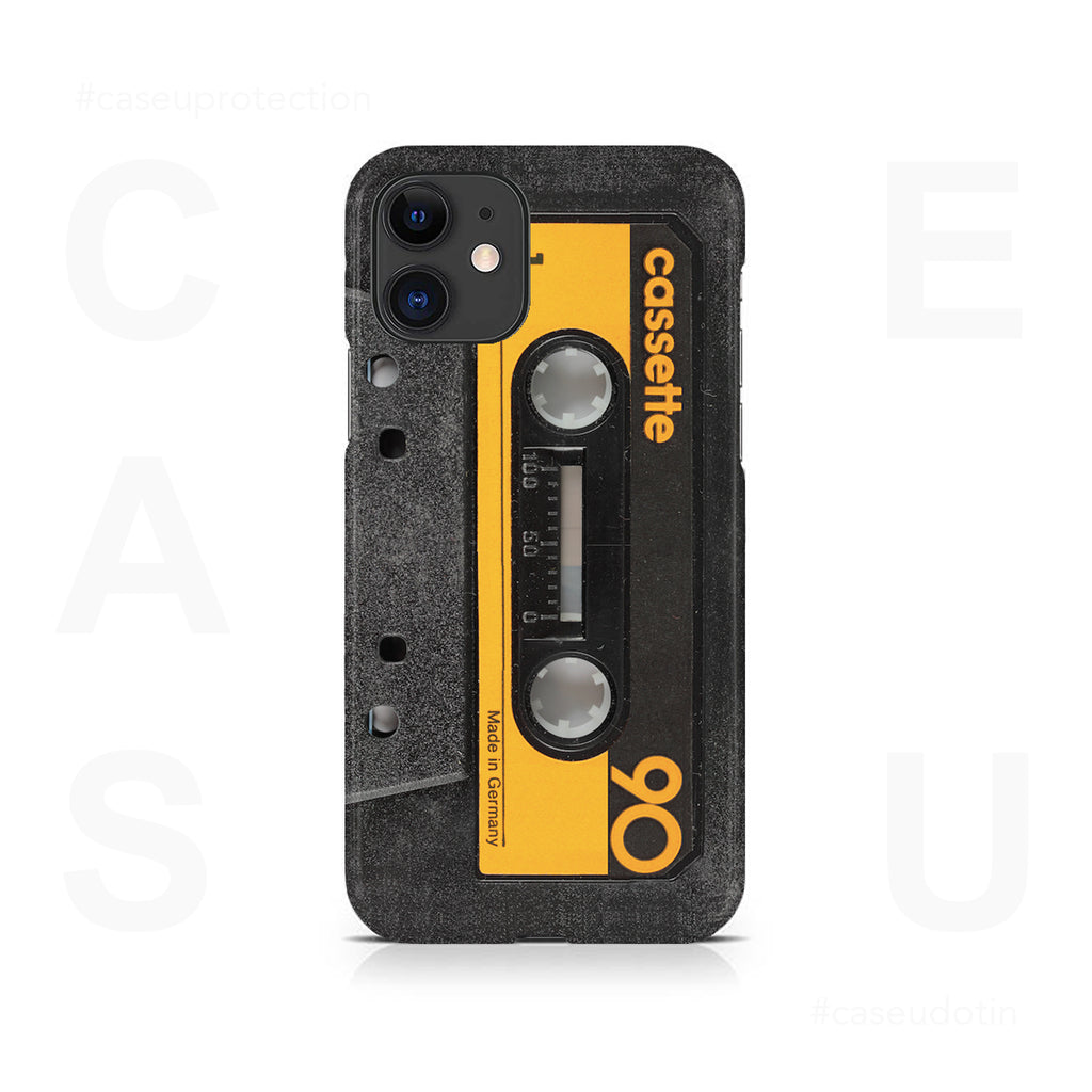 Retro Music Yellow Cassette Tape Case Cover - iPhone 11
