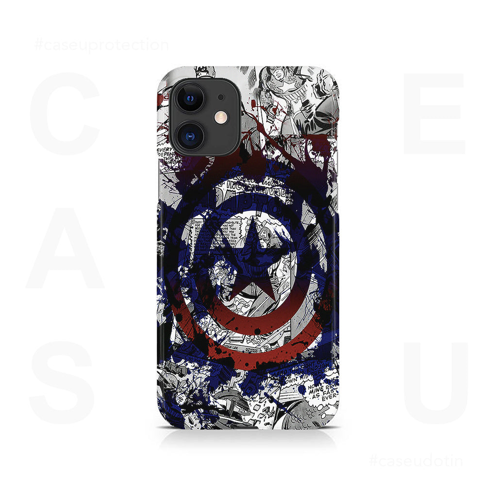 Captain America Splash Out Shield Case Cover - iPhone 11