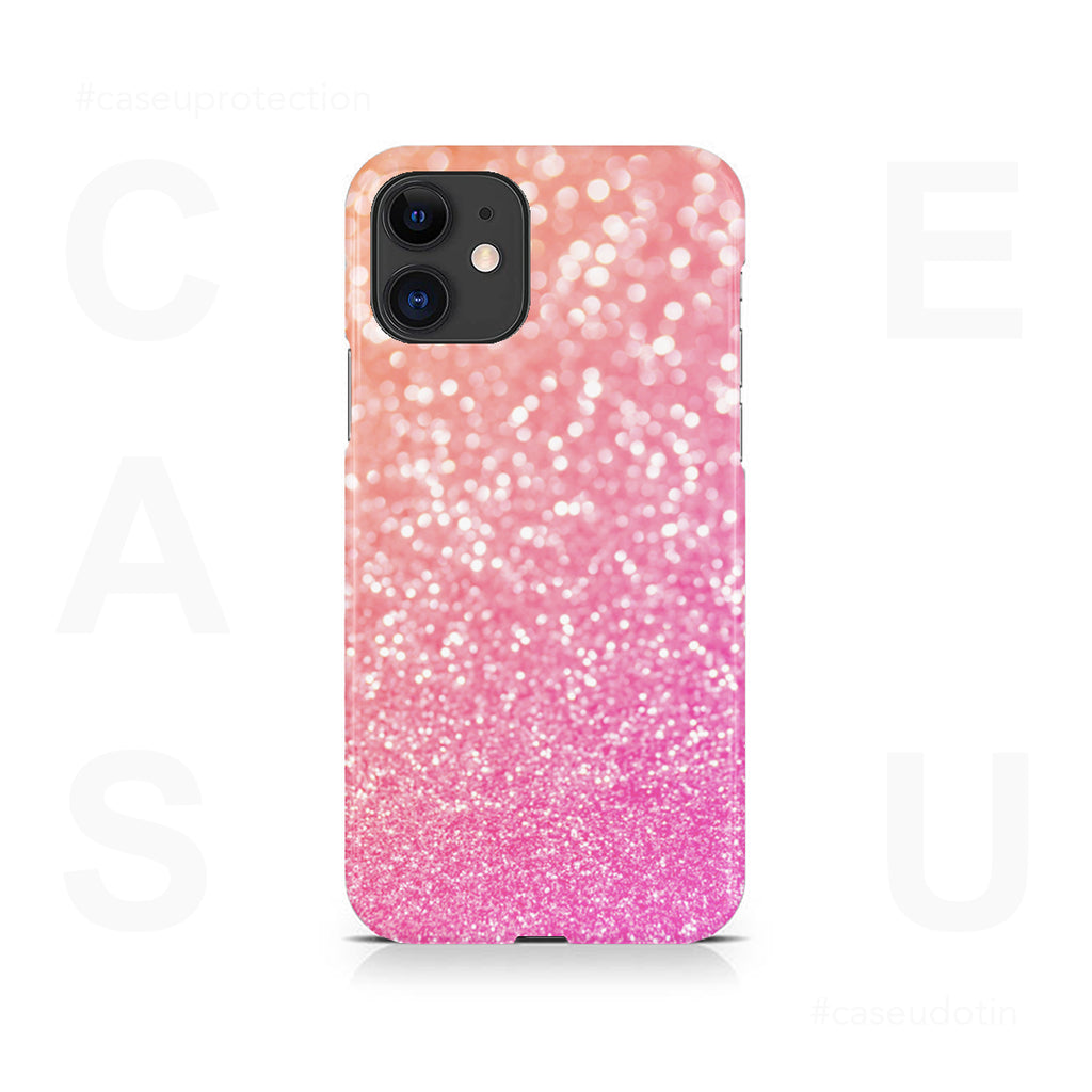 Pink Glitter Case Cover - iPhone 11