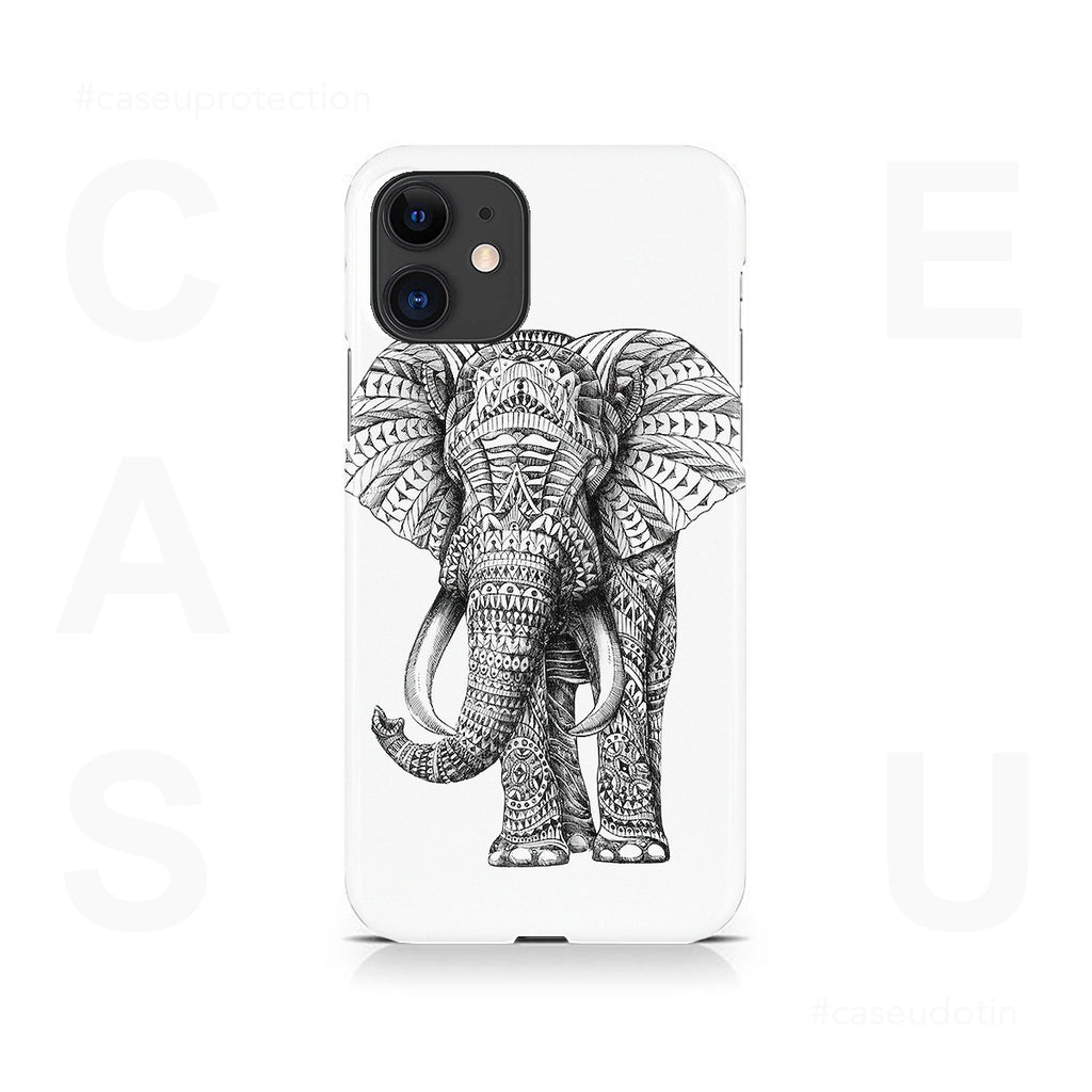 Ornate Elephant Case Cover - iPhone 11