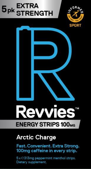 Revvies Extra Strength Arctic Charge 100mg (10 x 5Pk)